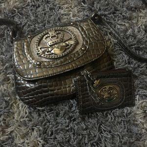 Fauz Snake Skin small purse w/ coin bag